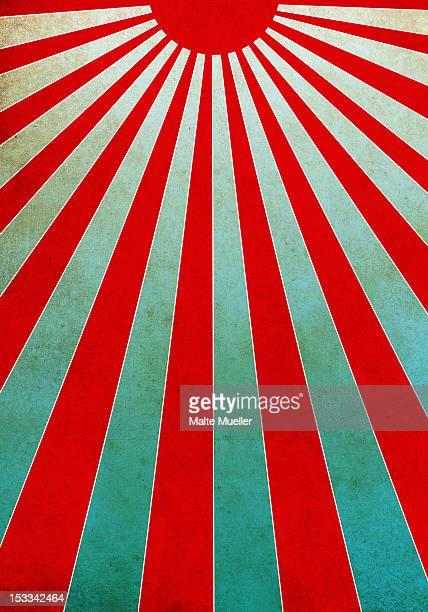 red sunbeams illustration - light beam stock illustrations, clip art, cartoons, & icons