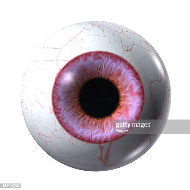 red vampire eyeball isolated on a white