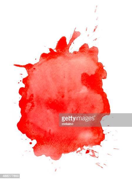 Red  watercolor splatter