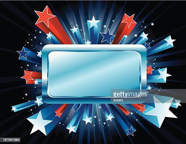 red white and blue stars burst - celebrities stock illustrations