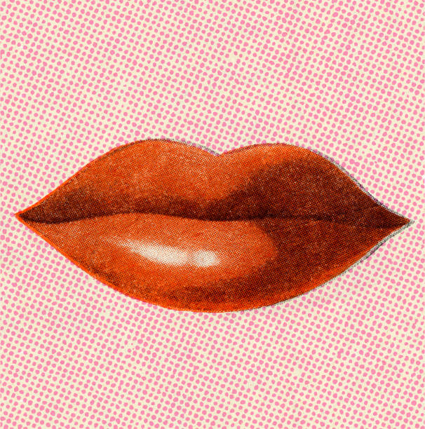 red woman's lips - lips stock illustrations