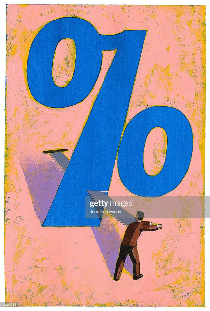 Reducing the Percentage : Stock Illustration