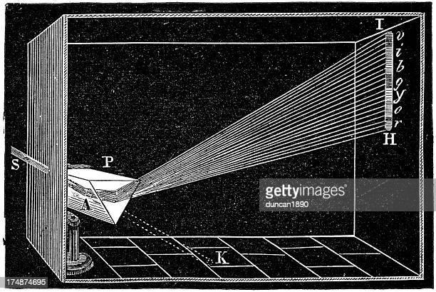 refraction of light - physics stock illustrations