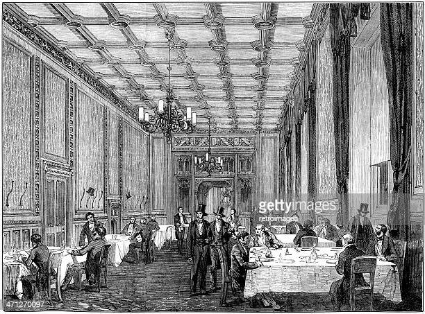 Refreshment room at the House of Commons, Illustrated London News