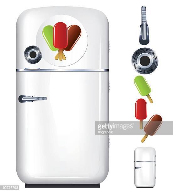 ilustraciones, imágenes clip art, dibujos animados e iconos de stock de refrigerador de helado - bulimia