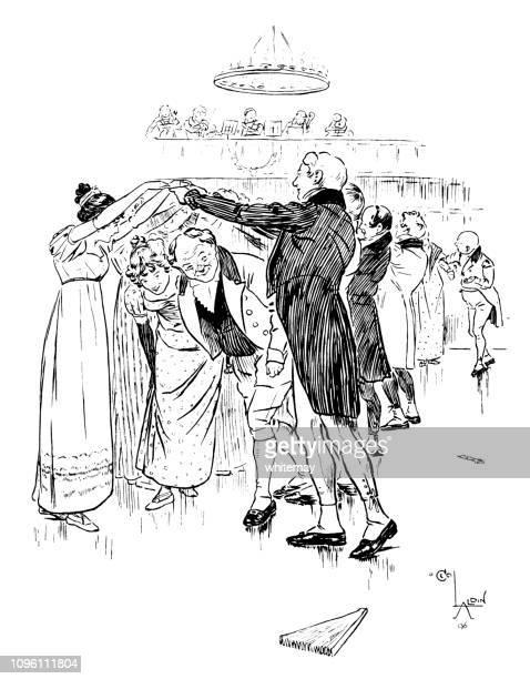 リージェンシー時代のボールルームで踊る紳士淑女 - リージェンシー様式点のイラスト素材/クリップアート素材/マンガ素材/アイコン素材