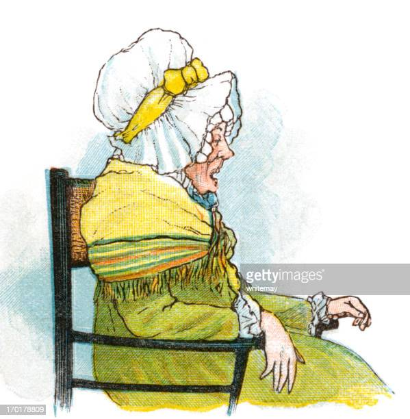Regency period old woman in a chair