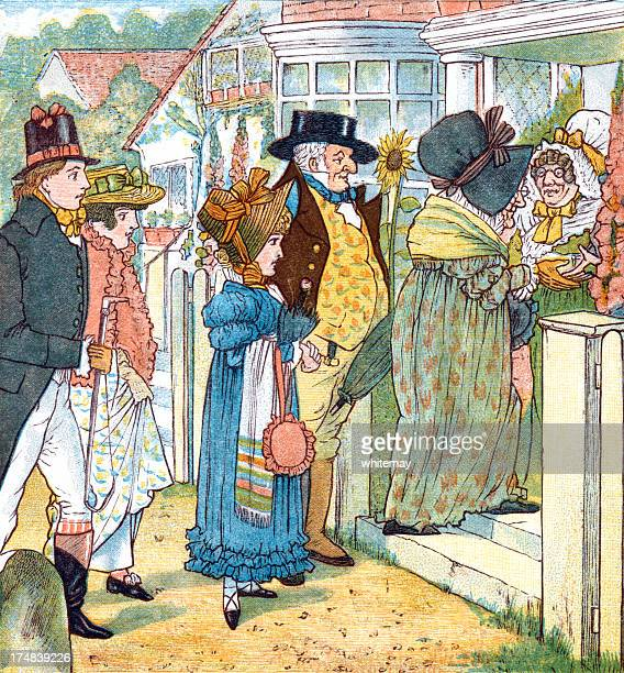 Regency period people going visiting