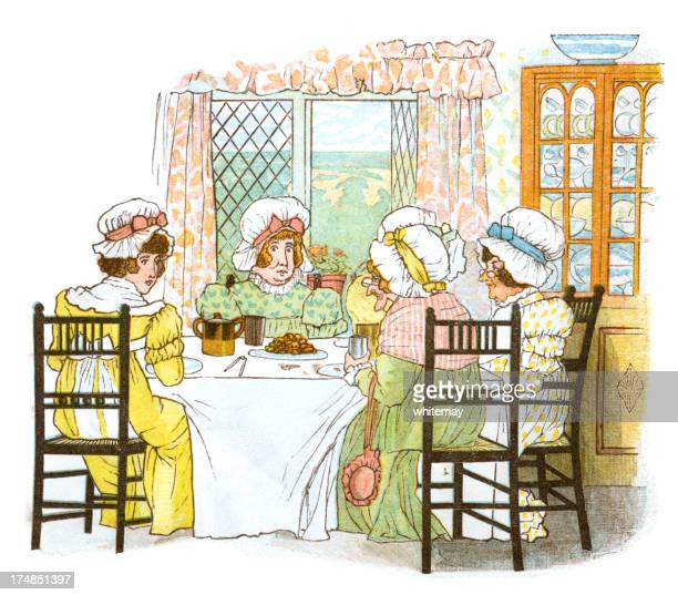 Regency period women's tea party