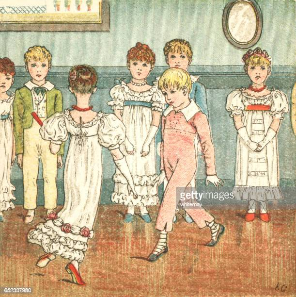 Regency style children dancing