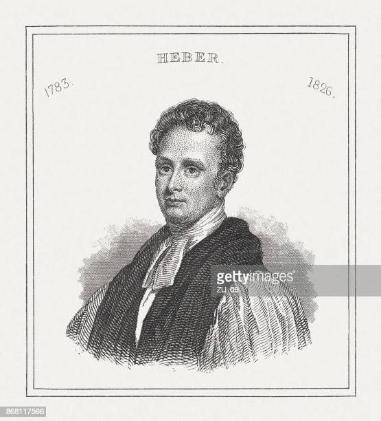reginald heber (1783-1826), english clergyman, steel engraving, published in 1843 - bishop clergy stock illustrations, clip art, cartoons, & icons