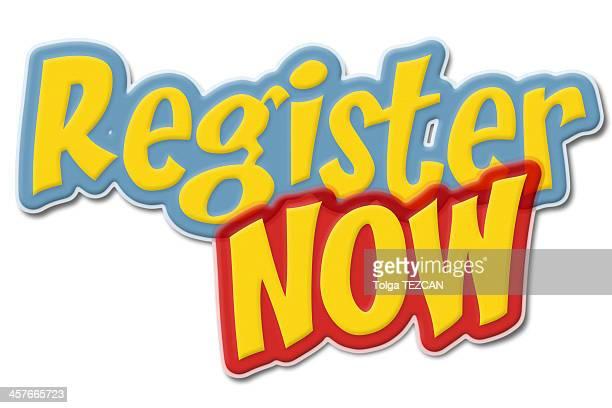 register now label - urgency stock illustrations
