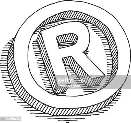 registered symbol drawing vector art getty images