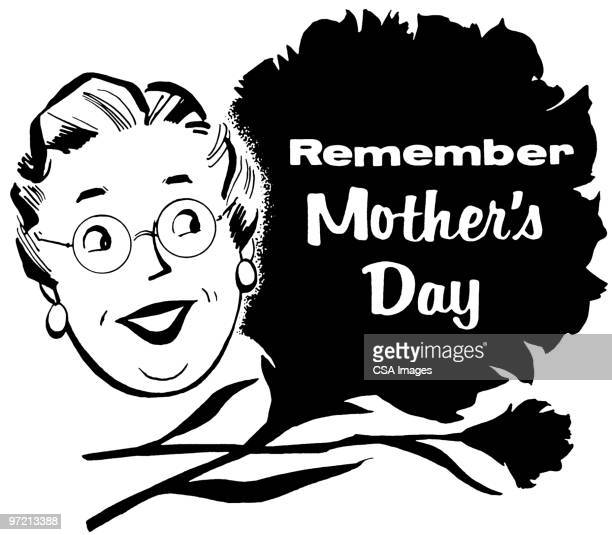 remember mother's day - mothers day stock illustrations