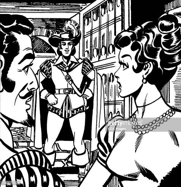 ルネッサンスの男性と女性 - updo点のイラスト素材/クリップアート素材/マンガ素材/アイコン素材