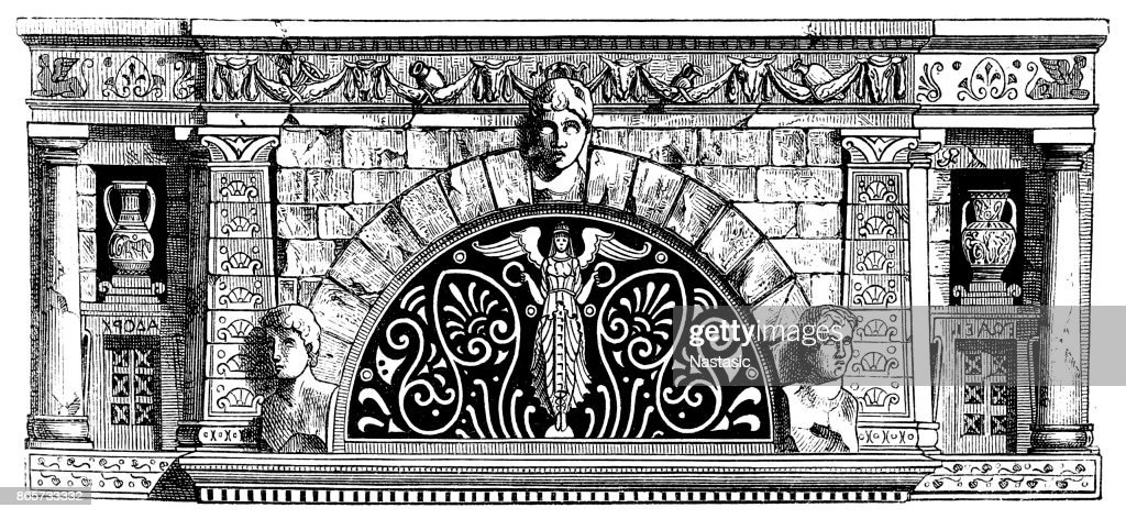 Renaissance ornament frame with Italian motifs : stock illustration