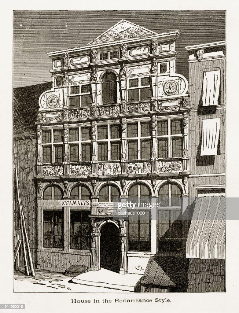Renaissance Style House Middleburg Zeeland Netherlands 1887