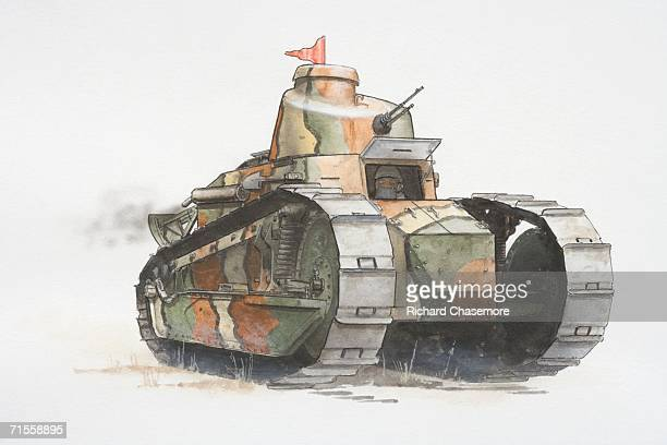 Renault FT17 French army tank.