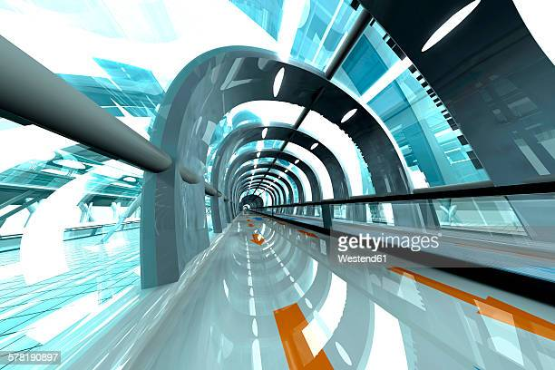 3d rendered illustration, architecture visualization of a futuristic subway or train station - {{asset.href}} stock illustrations
