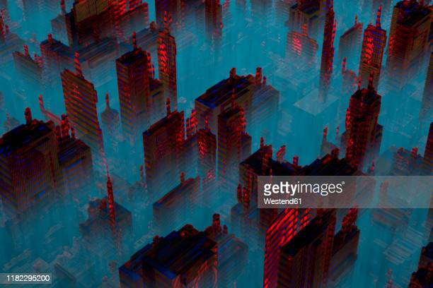 3d rendered illustration, microchip architecture such as a cpu under the microscope. - horror stock illustrations