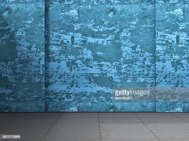 3d rendering of interior concrete wall and concrete floor - concrete wall stock illustrations, clip art, cartoons, & icons