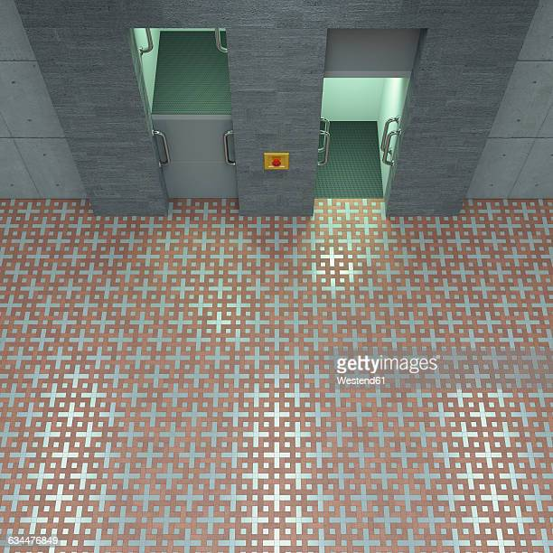3D Rendering, Paternoster, different directions