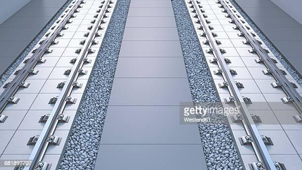 3D rendering, rail tracks