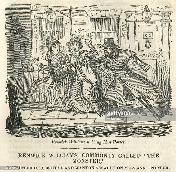 renwick williams - the 'london monster' - infamous stock illustrations, clip art, cartoons, & icons