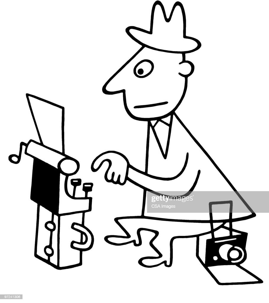 Reporter : Stock Illustration
