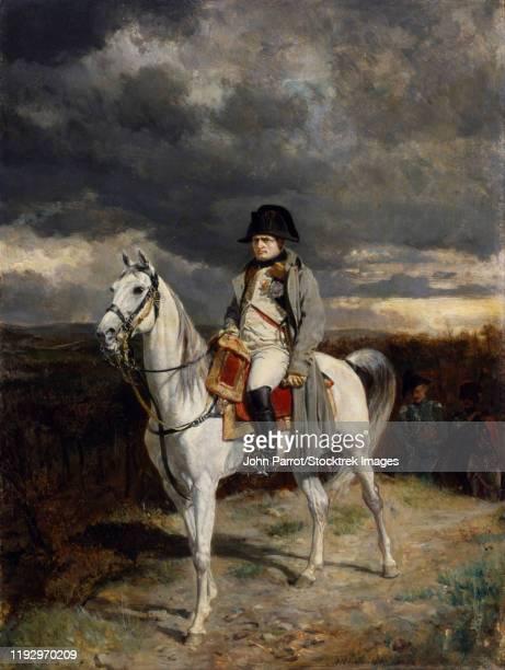 Reproduction painting of Napoleon Bonaparte on horseback.