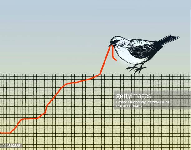 resilience, conceptual illustration - graph stock illustrations