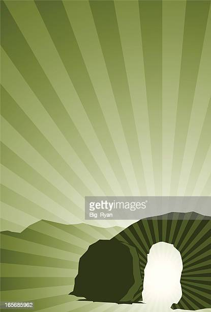 resurrection - empty tomb jesus stock illustrations