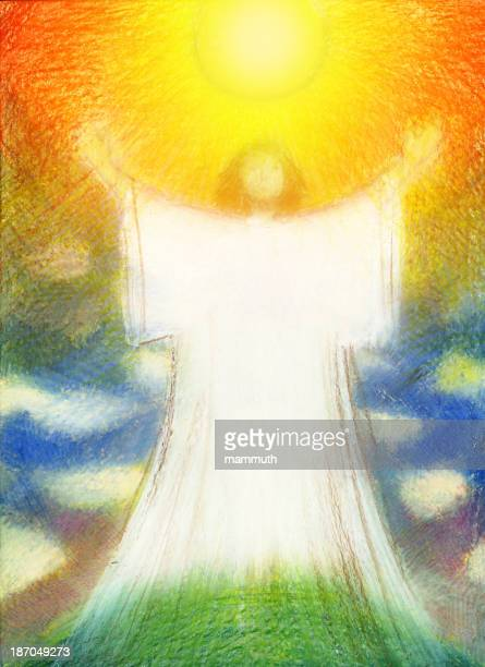 auferstehung christi - jesus resurrection stock-grafiken, -clipart, -cartoons und -symbole
