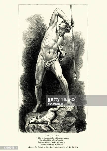 retaliation, revenge of the shepherd - abdominal muscle stock illustrations, clip art, cartoons, & icons