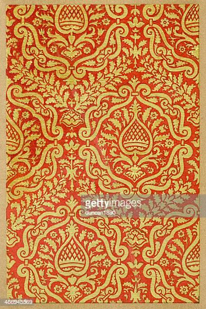 reticulated mullion pattern 16th century - renaissance stock illustrations
