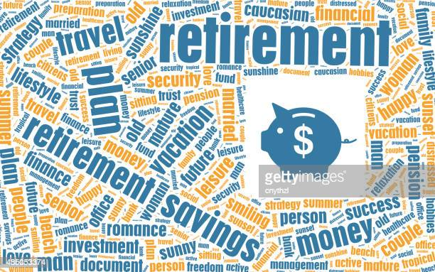 Retirement Concept in Tag Cloud