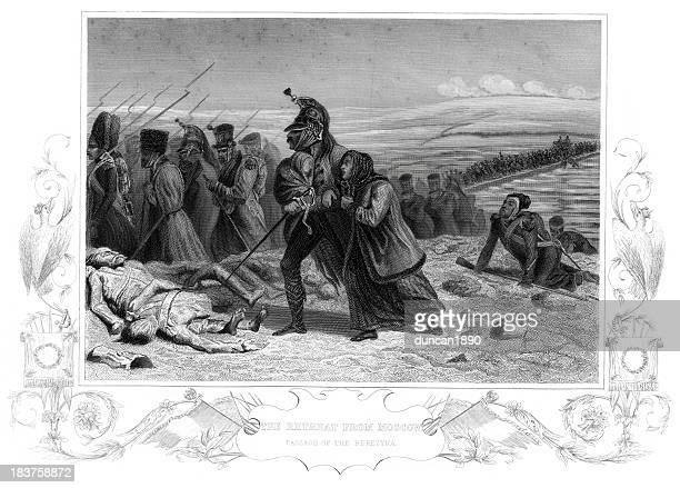 illustrations, cliparts, dessins animés et icônes de refuge de l'armée française de moscou - guerres napoléoniennes
