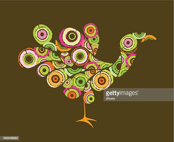 retro bird - free mosaic patterns stock illustrations