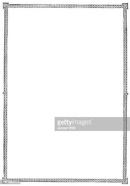 レトロな国境の彫りこみ文字 - ケルト風点のイラスト素材/クリップアート素材/マンガ素材/アイコン素材