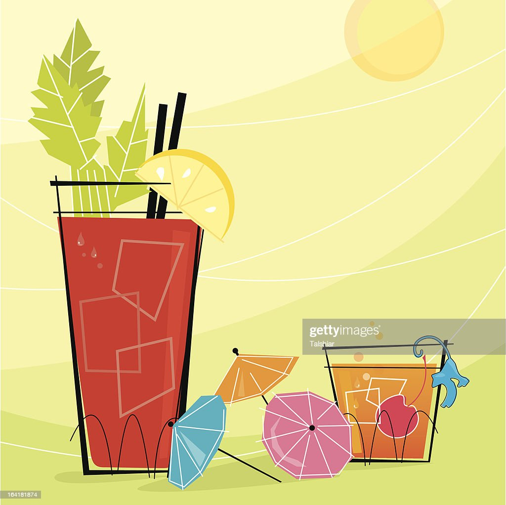 Retro Cocktails (Vector)