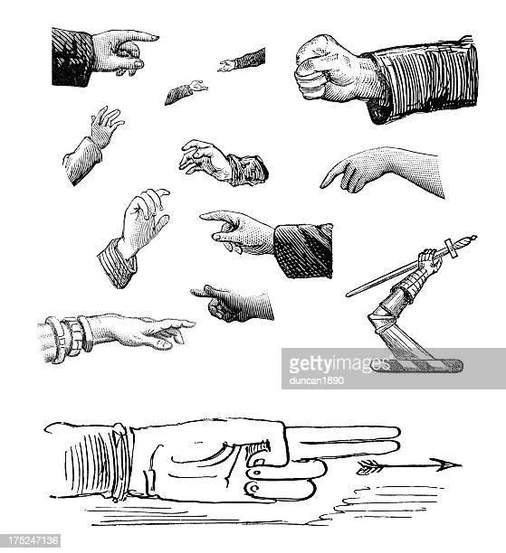 Elementos de Design Retro-mãos