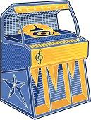 Retro jukebox lineart