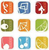 Retro Mod Icons 5 (vector)