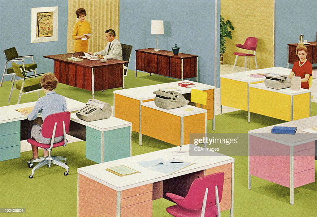 Retro Office : Stock Illustration