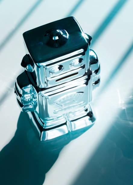 Retro robot, illustration