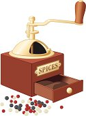 Retro style spices grinder