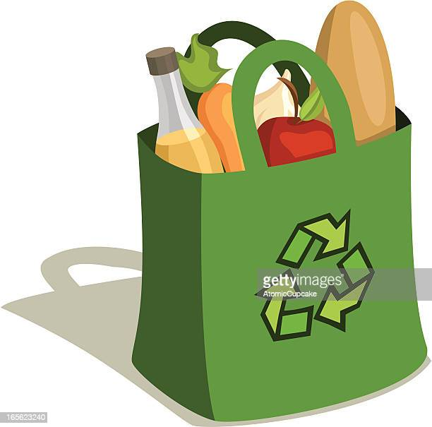 Reusable Grocery Bag Full of Food