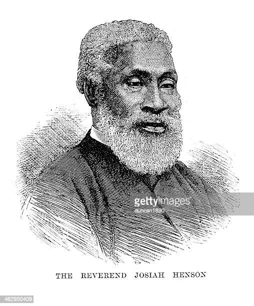 reverend josiah henson - mature adult stock illustrations