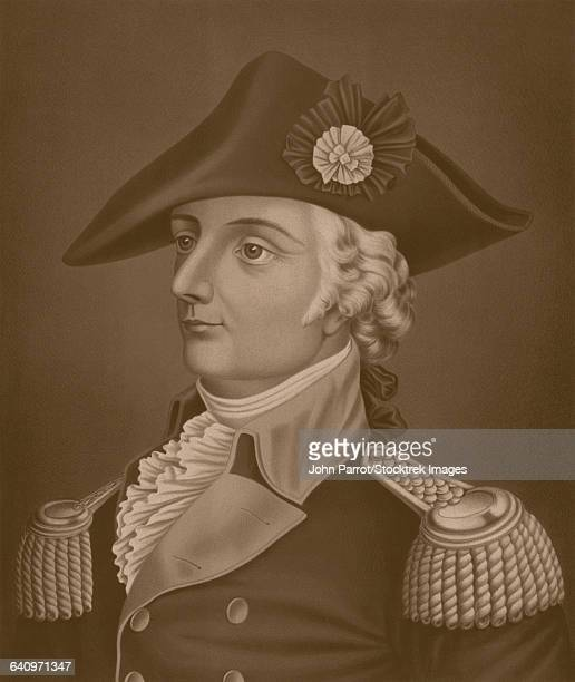 Revolutionary War print of General Mad Anthony Wayne. It reads, General Anthony Wayne.