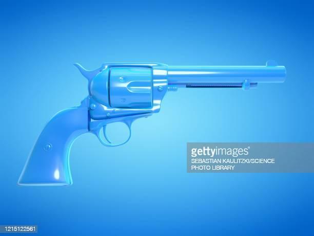 revolver, illustration - military stock illustrations
